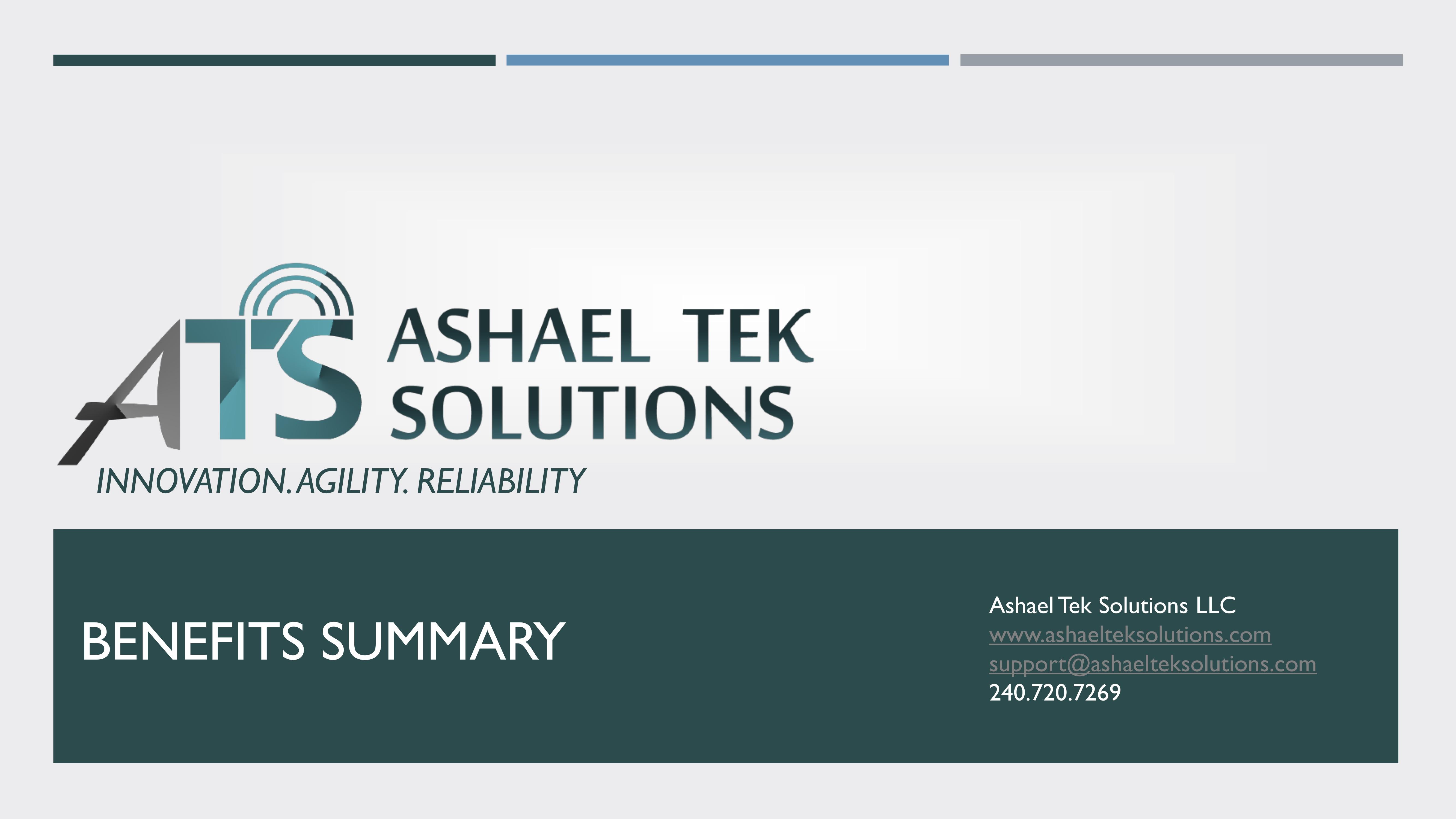 Ashael Tek Benefits Summary 2019
